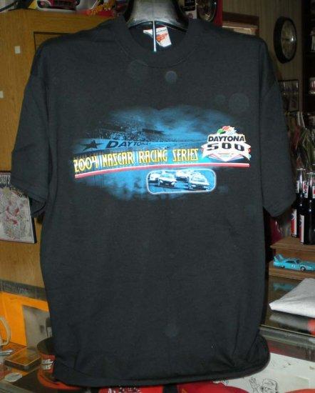 Daytona 500 2004 NASCAR Racing Series Legends Large Black Tshirt SH6527