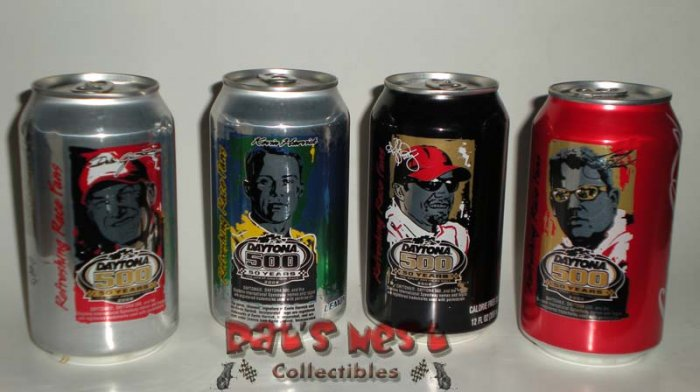 Coca Cola 2008 Daytona 500 50 Years Commemorative Cans