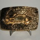 Pinto Race Car Modified Belt Buckle Goldtone
