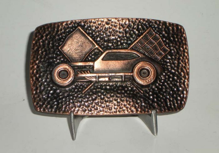Pinto Race Car Modified Belt Buckle Coppertone