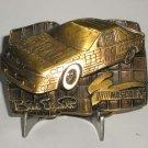Bill Elliott Bud 11 NASCAR Brass Belt Buckle Limited Edition
