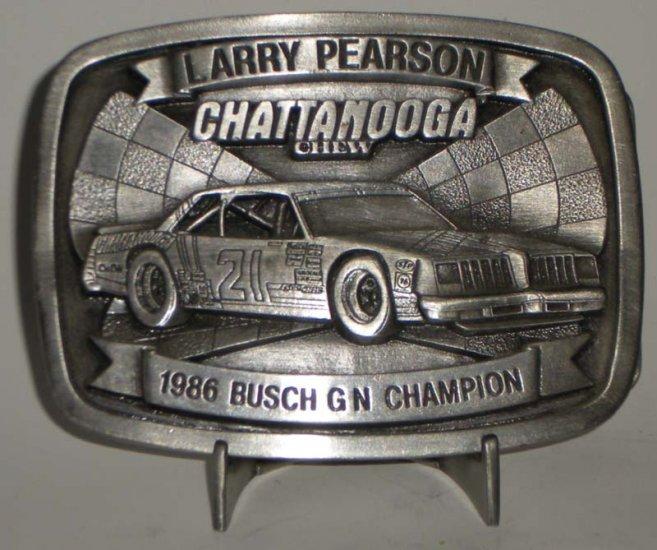 Larry Pearson #21 Chattanooga Chew Busch GN Champ Belt Buckle NASCAR