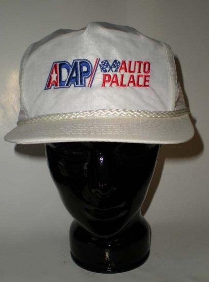 ADAP Auto Palace Racing White Adjustable Cap Hat