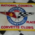 National Council Regional Champions Corvette Club 1986 Sew On Patch Motorsports