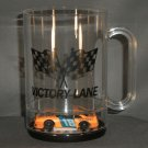 Russ Wheeler #18 Hardees Victory Lane Acrylic Mug Diecast NASCAR Auto Racing