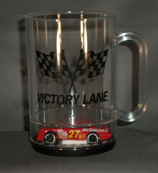 Jimmy Spencer #27 McDonalds Victory Lane Acrylic Mug Diecast NASCAR Auto Racing