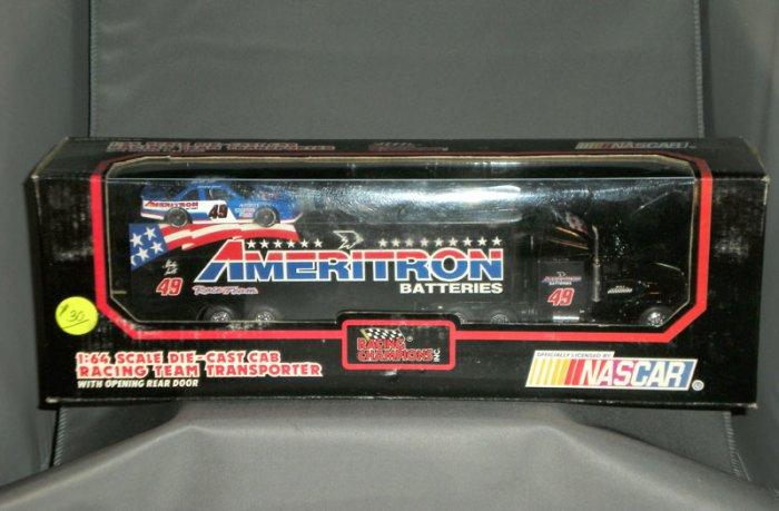 Stanley Smith #39 Ameritron Batteries Transporter Racing Champions 1:64 Die Cast NASCAR