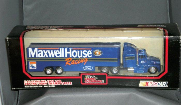 Junior Johnson Maxwell House Racing Transporter Racing Champions 1:64 Die Cast NASCAR