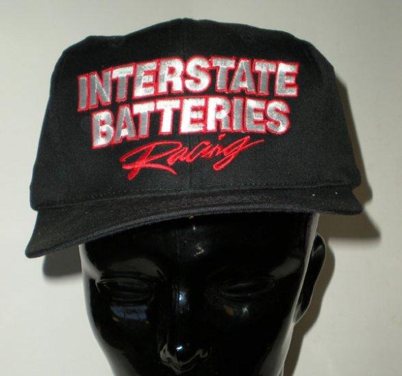 Black Interstate Batteries Racing Adjustable Cap Hat Motorsports NASCAR