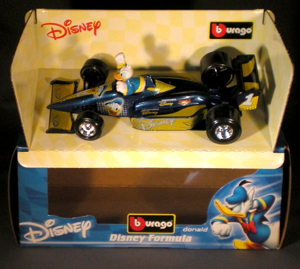 Cox Auto Sales >> Bburago Disney Donald Duck 1:24 Diecast F1 Race Car