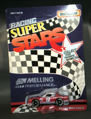 Melling Performance #9 Chad Little 1:64 Diecast White Rose Collectibles Matchbox Racing Super Stars