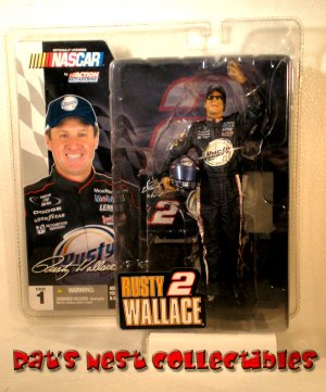 Rusty Wallace #2 Series 1 McFarlane Action Figure NASCAR