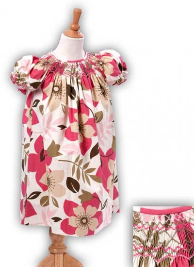 Funky Floral Girls Bishop Dress Size 18m