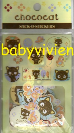 Sanrio 2005 Chococat Forest Sack O Stickers