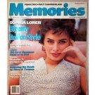Memories magazine - Sophia Loren - 1990