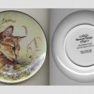 Decorative Cat Plate - Cat and Daisies - art by D. Wallace