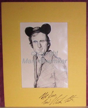 Nick Tate original artwork by Mary Bloemker autographed by Actor