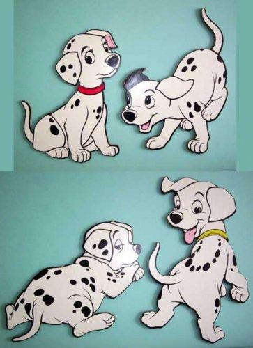 101 Dalmatians Wall Plaques - 4 Different Puppies