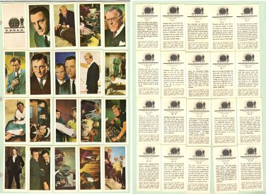 MAN From U.N.C.L.E. 1966 Cadet Sweets Card set containing 50 cards