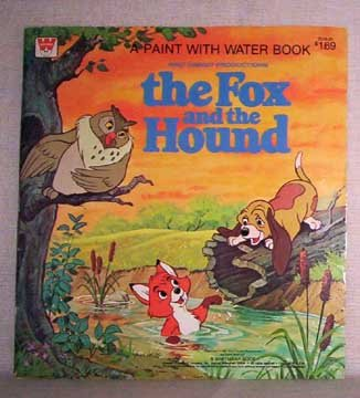 The Fox And The Hound paint with water book - Walt Disney - 1981