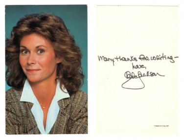 Kate Jackson - Scarecrow and Mrs. King - Studio Card from CBS TV - 1984