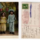 1910 Postcard featuring 2 Children