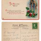 """""""The Old-Time-Wish"""" - 1922 Christmas postcard"""