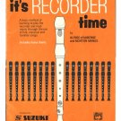 It's Recorder Time by Alfred d'Auberge and Morton Manus - instruction book