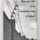 What Was It like In The Concentration Camp at Dachau paperback