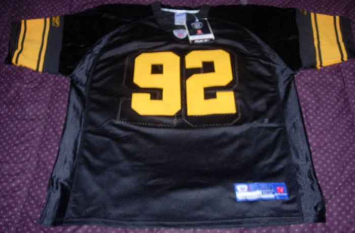 JAMES HARRISON THROWBACK PITTSBURGH STEELERS JERSEY SIZE 52! FREE SHIPPING