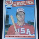 1985 TOPPS MARK McGWIRE ROOKIE w/FREE SHIPPING!