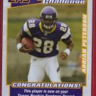 2007 TOPPS FANTASY CHALLENGE ADRIAN PETERSON ROOKIE w/FREE SHIPPING!