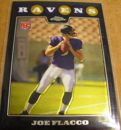 2008 TOPPS CHROME JOE FLACCO ROOKIE w/FREE SHIPPING!