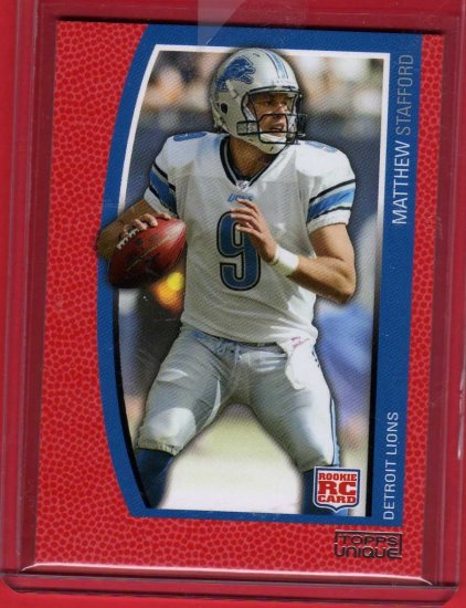 2009 TOPPS UNIQUE MATTHEW STAFFORD ROOKIE 400/799 w/FREE INSCRIPTION!