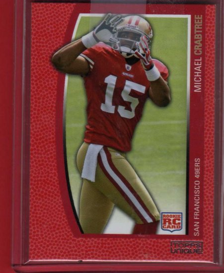 2009 TOPPS UNIQUE MICHAEL CRABTREE ROOKIE 582/799 w/FREE INSCRIPTION!