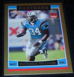 2006 TOPPS DEANGELO WILLIAMS ROOKIE 1545/2006 w/FREE SHIPPING!