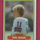 1980 Topps Phil Simms Rookie