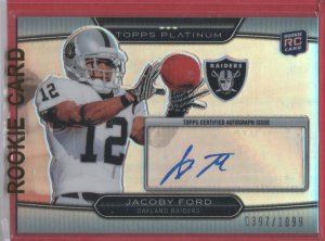 2010 Topps Platinum Jacoby Ford Autograph 0397/1099
