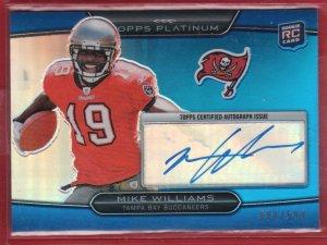 2010 Topps Platinum Mike Williams Autograph 484/599