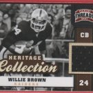 2011 Threads Willie Brown GU Jersey