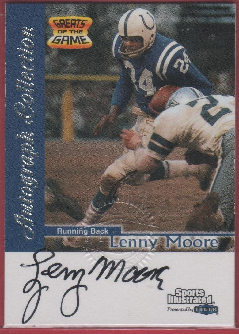 1999 Sports Illustrated Lenny Moore Autograph