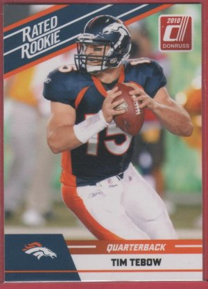 2010 Donruss Rated Rookie Tim Tebow