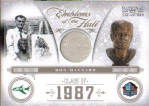 2011 National Treasures Don Maynard GU Jersey 38/99