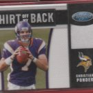 2011 Certified Christian Ponder Jersey 085/250