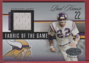 2006 Certified Paul Krause GU Jersey 055/100