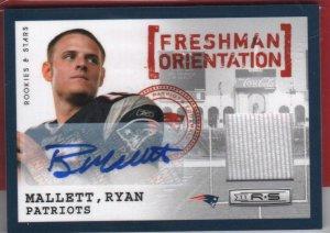 2011 Rookies & Stars Ryan Mallett Jersey/Autograph 10/25