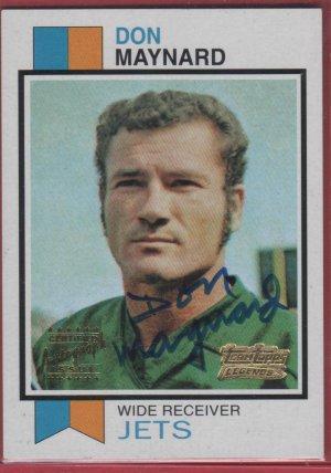 2001 Topps Legends Don Maynard Autograph