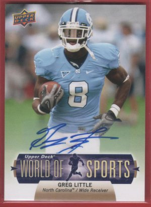2011 Upper Deck Greg Little Autograph
