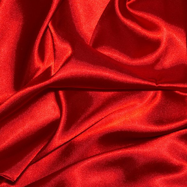 "1 Yards of Satin Fabric 60"" W Red Just $3.99 /Yard"