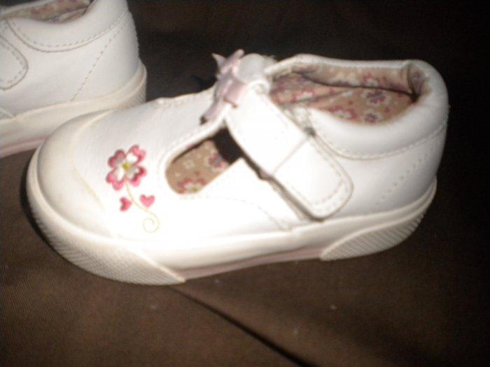 STRIDERITE Toddler 6.5W Casual T Strap Shoe Camellia